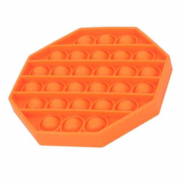 Orange octagonal bubble toy