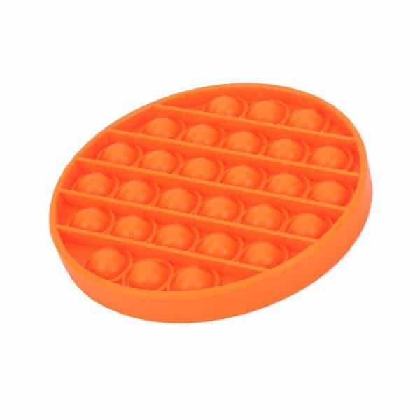 Orange round bubble toy