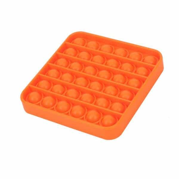 Orange square bubble toy
