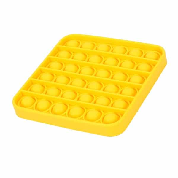 Yellow square bubble toy