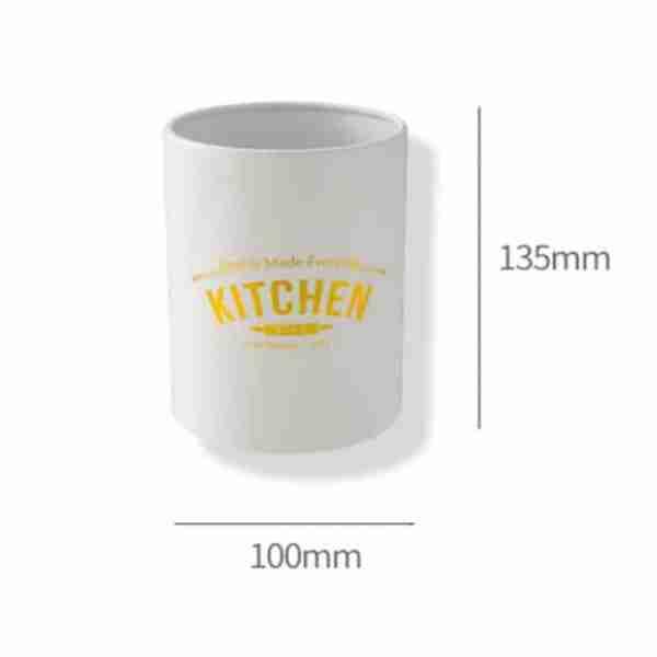 Khaki wooden handle silicone kitchenware set size (6)