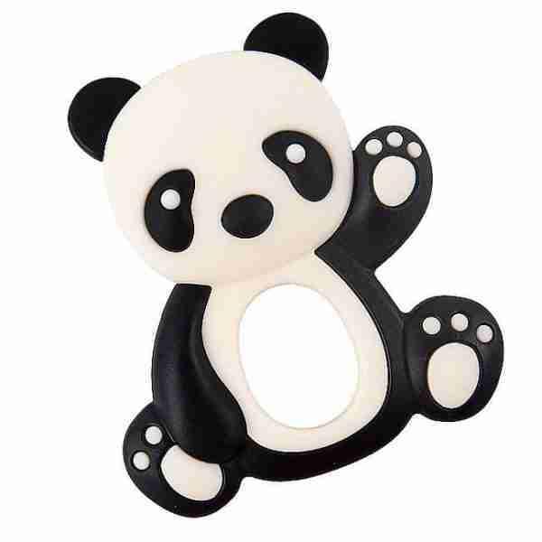Black panda teether