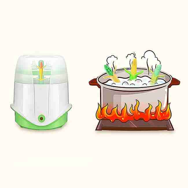 Teether boiling disinfection