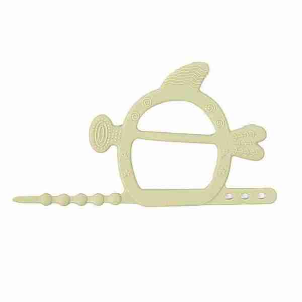 Silicone hand guard teether