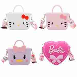 Girl Silicone Wallet, Girl cartoon silicone messenger bag
