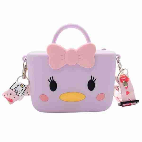 Purple Cartoon Chick-Girl Silicone Bag