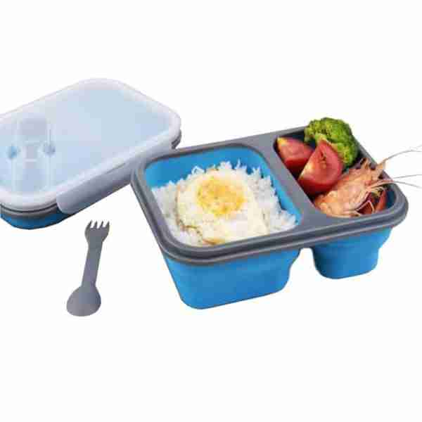 silicone folding lunch bowl