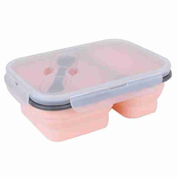 pink silicone bowl